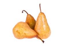 Twee smakelijke peren met een blad. Royalty-vrije Stock Fotografie