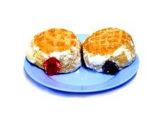 Twee smakelijke snacks royalty-vrije stock fotografie