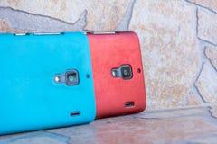 Twee Smartphones Stock Afbeeldingen