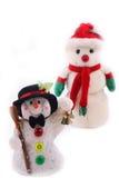 Twee Sneeuwmannen Stock Fotografie