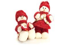 Twee sneeuwmannen Royalty-vrije Stock Afbeelding