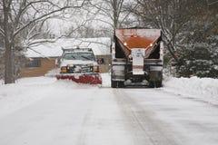 Twee Sneeuwploegen stock fotografie
