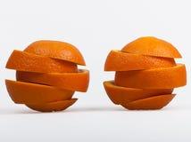 Twee snijden sinaasappelen Royalty-vrije Stock Afbeelding
