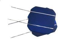 Twee solarcells Royalty-vrije Stock Afbeelding