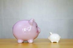 Twee spaarvarkens Royalty-vrije Stock Foto's