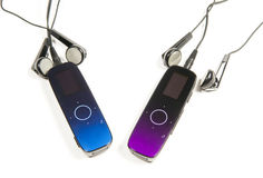 Twee spelers MP3 Royalty-vrije Stock Foto