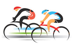 Twee sportfietsers Stock Fotografie
