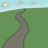Twee Steeg Landelijke Weg royalty-vrije illustratie