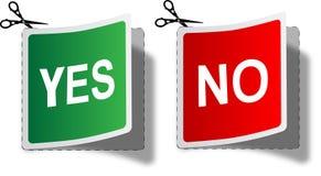 Twee stickers. royalty-vrije illustratie