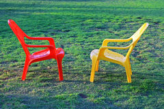 Twee stoelen Royalty-vrije Stock Foto's