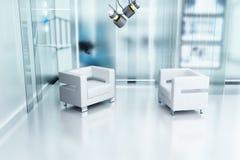 Twee stoelen en een studio Royalty-vrije Stock Foto