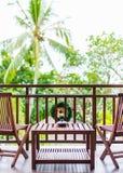 Twee Stoelen op het Balkon Stock Foto