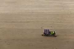 Twee stoelen op het strand Royalty-vrije Stock Foto