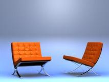 Twee stoelen van de ontwerper Royalty-vrije Stock Foto's
