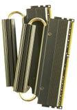 Twee Stokken van RAM met Heatsinks Royalty-vrije Stock Afbeeldingen