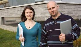 Twee studenten Stock Foto