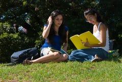 Twee studenten Stock Foto's