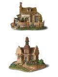Twee stuk speelgoed huis Stock Foto's