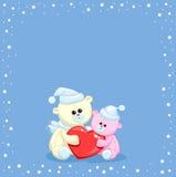 Twee stuk speelgoed teddybeer Royalty-vrije Stock Foto's