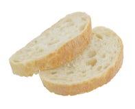 Twee stukken van brood Royalty-vrije Stock Foto