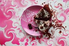 Twee stukken van cake Royalty-vrije Stock Foto's