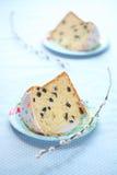 Twee stukken van Kulich - Russische Pasen-Cake Stock Afbeelding