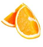Twee stukken van sinaasappel Royalty-vrije Stock Foto