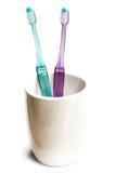 Twee tandenborstels Stock Foto