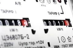 Twee-tarief elektrische meter stock afbeelding
