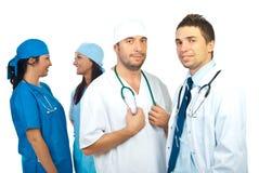 Twee teams van artsen Stock Foto's