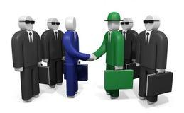 Twee teams van zakenlieden Stock Foto's
