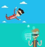 Twee technologiebanners met ruimte voor tekst Royalty-vrije Stock Afbeelding