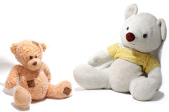 Twee teddy-beren Royalty-vrije Stock Afbeelding