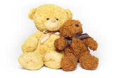 Twee teddybeervrienden Royalty-vrije Stock Afbeeldingen