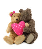 Twee teddyberen Stock Afbeelding