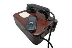 Twee telefoons Royalty-vrije Stock Afbeelding