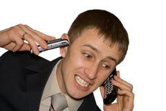 twee telefoons Stock Afbeelding