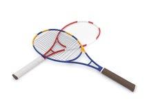 Twee tennisrackets Stock Afbeeldingen