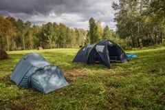 Twee tenten Royalty-vrije Stock Afbeeldingen