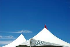 Twee tenten stock foto's
