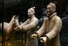 Twee terracottamilitair en hor Royalty-vrije Stock Afbeeldingen