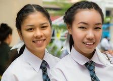 Twee Thaise meisjes Stock Foto's