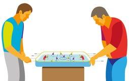Twee tieners die enthousiast het hockey van de spellijst spelen Stock Foto's