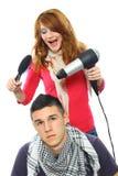 Twee tieners het stellen Stock Afbeelding
