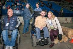 Twee-tijd Paralympic-kampioen Olesya Vladykina stock afbeeldingen