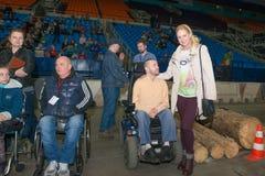 Twee-tijd Paralympic-kampioen Olesya Vladykina stock fotografie