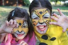 Twee tijgers royalty-vrije stock afbeelding