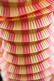 Twee Tone Paper Lantern Close-Up Stock Afbeelding
