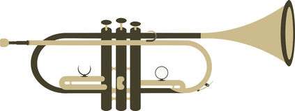 Twee Tone Trumpet stock illustratie