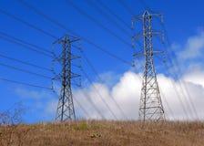 Twee transmissiepolen Stock Afbeelding